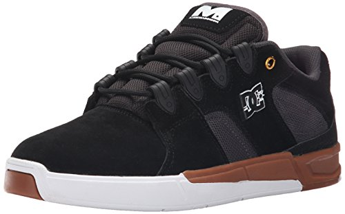 DC Men's Maddo Skate Shoe, Black/Gum, 10 M US