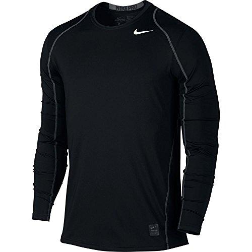 mens-nike-pro-cool-top-black-dark-grey-white-size-x-large