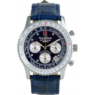 krug-baumen-400507ds-air-traveller-blue-dial-blue-strap