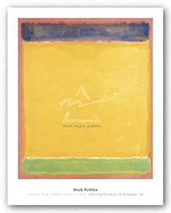 "Untitled (Blue, Yellow, Green on Red), 1954 by Mark Rothko 31""x26"" Art Print Poster"