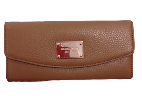 Michael Kors Items Slim Flap Luggage Leather Clutch Wallet Rose Gold