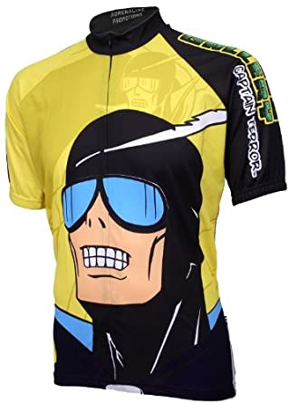 Adrenaline Promotions Mens Captian Terror Short Sleeve Cycling Jersey by Adrenaline Promotions