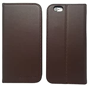 iPhone 6 Case (Brown), QuantumCase Premium Series [Flip Case] with [Card Holders] and [Stand Feature] - Wallet Case with [Ultra Slim] Flip Cover - Extra Strength [Magnetic Closure] - Ultimate 360 Degree Protection - Includes
