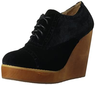 Madison Harding Women's Pike Wedge Pump,Black Velvet,5.5 M US