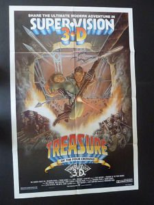 TREASURE OF THE FOUR CROWNS Movie Poster 1983 NSS830027 Tony Anthony/Ana Obregon