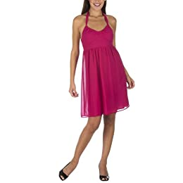 Mossimo® Black: Tie Neck Babydoll Halter Dress - Fiery Pink : Target from target.com