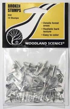 Woodland Scenics Broken Stumps (14) WOOS32