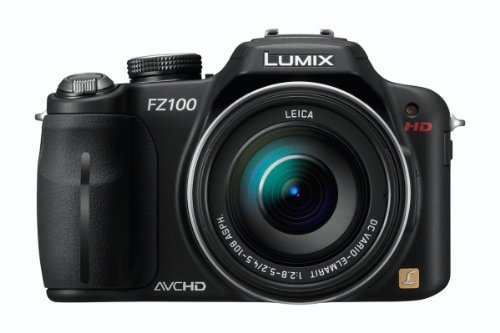 Panasonic Lumix FZ100 14.1MP Digital Camera - Black (3.0 inch TFT LCD Display, LEICA DC Lens with 24x Optical Zoom and Full HD Movie)