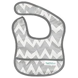 Bumkins Waterproof Starter Bib, Gray Chevron (4-9 Months)
