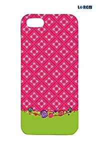 Lorem Back Cover For Apple iPhone 5/5S -Multicolor-L14326