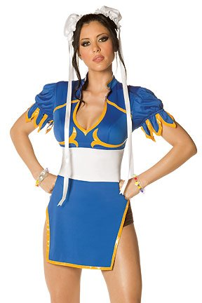 Kung Fu Cutie - Womens Sexy Female Super Hero Costume Lingerie Outfits
