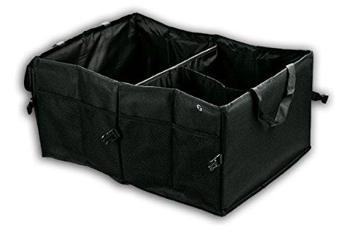 Zone Tech Multipurpose Cargo Trunk Storage Bag - Premium Quality Black Universal Foldable Leak Proof Traveling Portable Car Trash Can (Detailing Organizer compare prices)