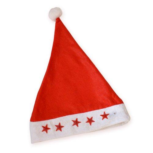 Santa Claus Red Cap Flashing Star Light Christmas Caps Xmas Party Hats (Santa Claus Cap)