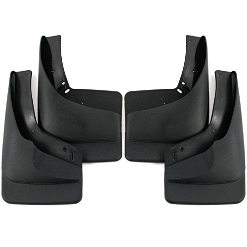 1999-2007 Chevy Silverado GMC Sierra Mud Flaps Mud Guards Splash Guards (With OEM Flares) Front and Rear Molded 4 Piece (Chevy Truck 2005 compare prices)