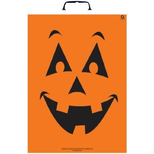 Pumpkin Treat Bag 16 1/2in X 12in ~ Plastic Bag - 1