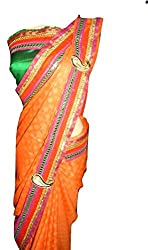 KC Latest Festival Collection with Self Work & Golden Polish New Border Saree with Dhupion Blouse On Sale