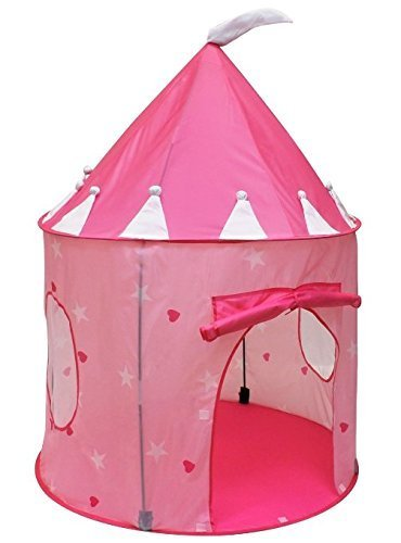 powerlead-play-tent-fairy-tale-castle-indoor-outdoor-children-play-house-pink-color
