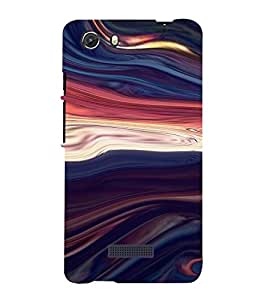 PrintVisa Colorful Wave Design 3D Hard Polycarbonate Designer Back Case Cover for MIcromax Unite 3 Q372