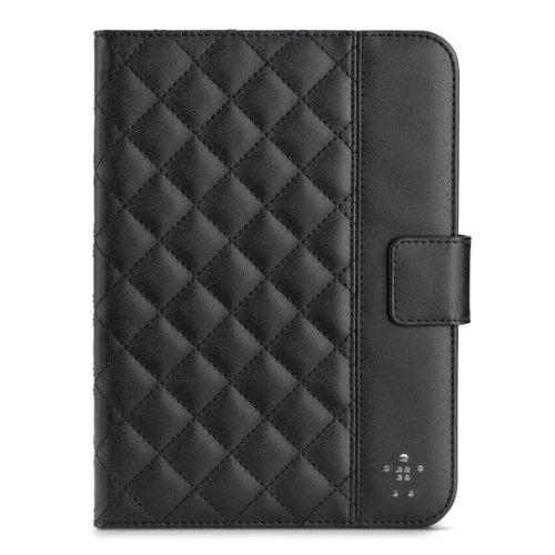 Belkin Quilted Cover with Stand for iPad mini 3, iPad mini 2 with Retina Display and iPad mini (Black) (Ipad Retina Display Cases Belkin compare prices)