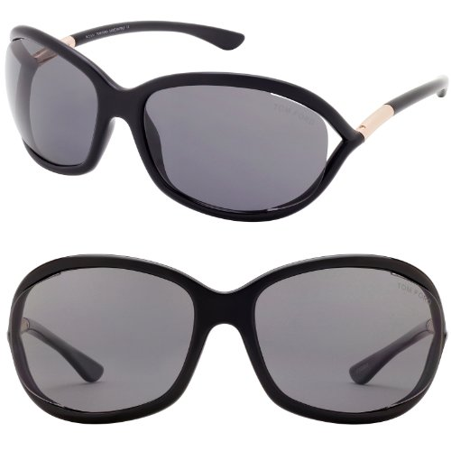 Tom Ford FT0008 Jennifer Sunglasses Color 01D Black
