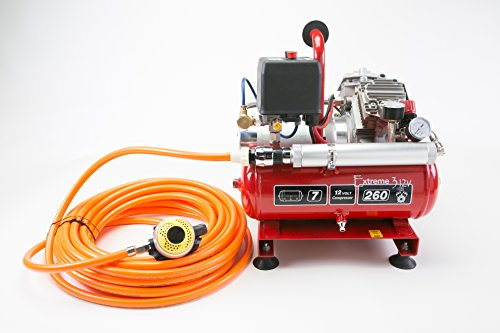 NARDI Exreme 3 Electric Compressor 12V / 24V 50' feet Hose Hookah System Scuba Diving Third Lung Surface Air Boat Cleaning dive inspection lobstering commercial diving NEW (Scuba Tank Inspection compare prices)