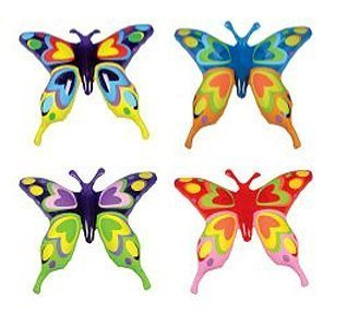 1 DOZEN Inflatable, Beautiful Transparent Butterflies (27in. Each) / Theme Party Favor / Decor / Gift / Prize / Giveaway from RIN