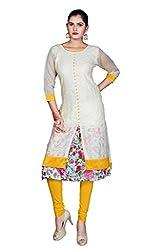 Shivam Women's Poly Cotton Kurti (DGD28_Multi-Coloured_40)