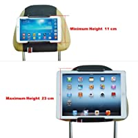 TFY Universal Car Headrest Mount Holder for 7 Inch to 11 Inch Tablet PC - Apple iPad, iPad 4 (iPad 2 & 3), iPad Air (iPad 5), iPad Mini - Samsung Galaxy Tab 2, Galaxy Tab 3, Galaxy Note - Google Nexus 7, 10 - Asus Transformer Book, MeMO Pad HD 7 - Microso