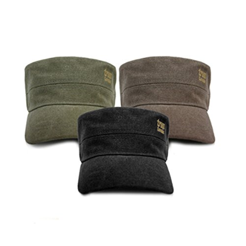 troop-london-trp-0245-unisex-military-cap-canvas-fabric-vintage-style-free-size-black