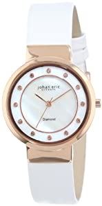 Johan Eric Women's JE6100-09-009L Arhus Diamond Rose Gold Ion-Plated Coated Stainless Steel Watch