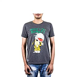 Punchtattva Men's Cotton T-shirt ( PCH4-XL_ Grey )