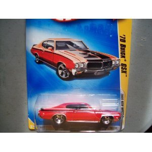 Hot Wheels 2009 007 '70 Buick GSX Red on Variant Premiere Card