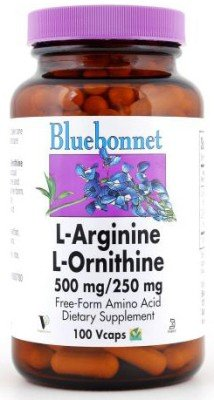 L-Arginine/L-Ornithine 500Mg/250Mg Bluebonnet 100 Caps