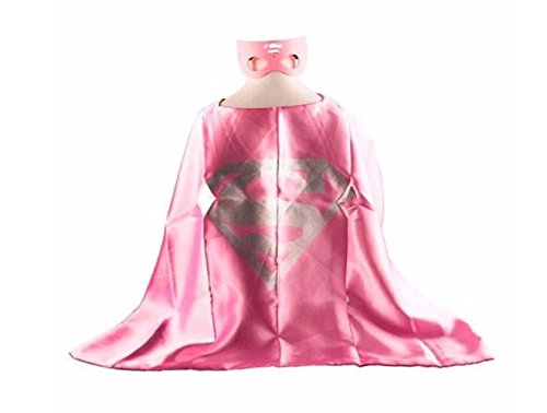 Superhero SUPERGIRL CAPE AND MASK SET Super Hero **Ships from US**