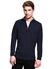 XXXL Autograph Pure Merino Wool Funnel Neck Jumper