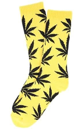 HUF Men's Plantlife Socks One Size Yellow