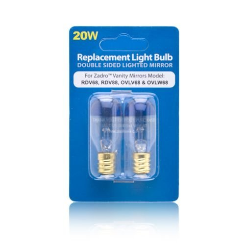 Zadro 20 Watt Replacement Light Bulb for Zadro Vanity Mirrors (20w Lightbulb compare prices)