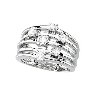 14K Yellow/White Gold 1/2 ct. Diamond Right Hand Ring