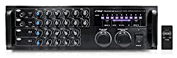Pyle PMXAKB1000 Bluetooth 1000-Watt Karaoke Mixer with Two Microphone Inputs, RCA Audio/Video and Rack Mountable by Sound Around