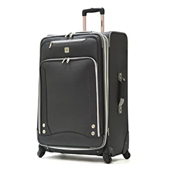 Olympia Luggage Skyhawk 26 Inch Expandable Vertical Rolling Case,Black,One Size