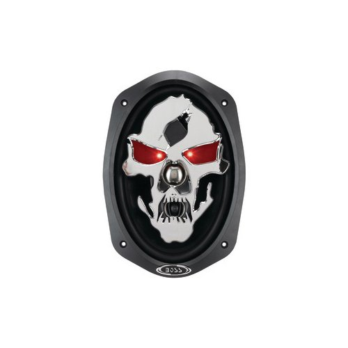 "Boss Audio Sk693 Phantom Skull 600-Watt 3 Way Auto 6"" X 9"" Coaxial Speaker"
