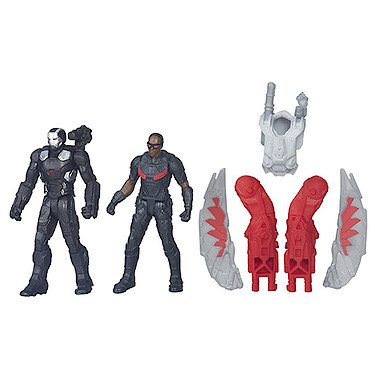 Marvel Captain America: Civil War – Falcon & War Machine – 2 Mini Figurines 6 cm
