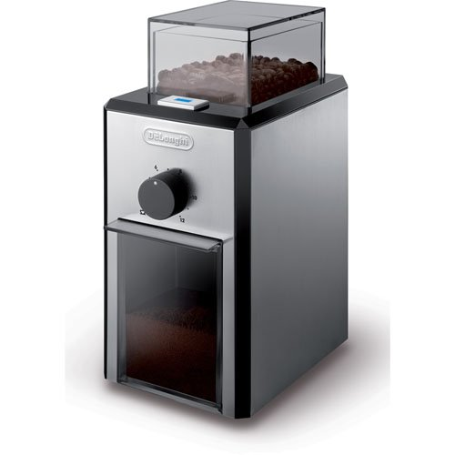 DeLonghi Burr Coffee Grinder with Grind Selector and Quantity Control, Conveniently Grinds 4 to 12 Cups, Features Automatic Shut-Off, and 3 Grind Settings Fine, Medium, Coarse
