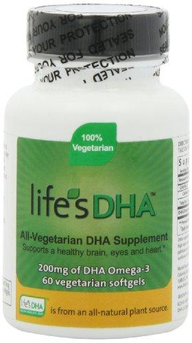 NEW Martek Life's DHA Omega-3 200mg DHA 60 all-vegetarian softgels