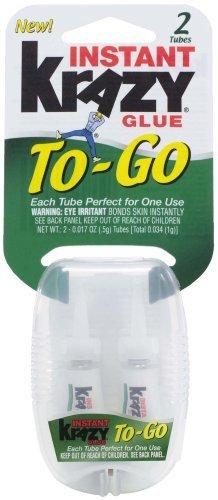 krazy-glue-kg58148inn-instant-glue-to-go-two-single-use-tubes-017-ounce-by-krazy-glue