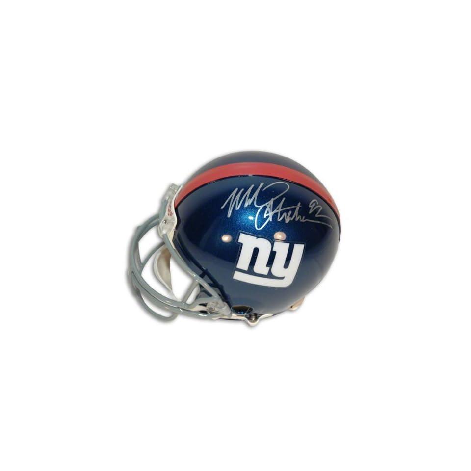 Michael Strahan Autographed Pro Line Helmet  Details New York Giants