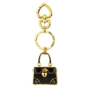Juicy Couture Black Daydreamer Handbag Key Ring Chain Keyfob