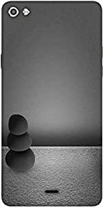 Snoogg Black Zen Stones Background Designer Protective Back Case Cover For Micromax Canvas Silver 5 Q450