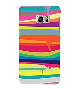 PrintVisa Melting Color Pattern 3D Hard Polycarbonate Designer Back Case Cover for Samsung Galaxy S6 Edge+ Plus