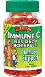 L'il Critters Gummy Immune C Plus Zinc & Echinacea, Dietary Supplement for Kids, 60-Count Bottles (Pack of 4)